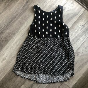 Madewell Black & White Patterned Top